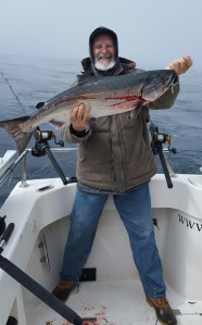 Joe Munoz of Redding landed a nice salmon out of Eureka earlier this week while fishing with Full Throttle Sport Fishing. The salmon season has yet to take off along the North Coast, but hopes are high the fish will show in big numbers in July and August. Photo courtesy of Full Throttle Sport Fishing